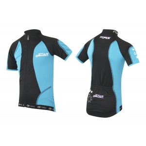 Dětský dres FORCE Star - černo-modrý