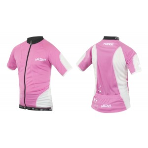 Dětský dres FORCE Star - bílo-růžový