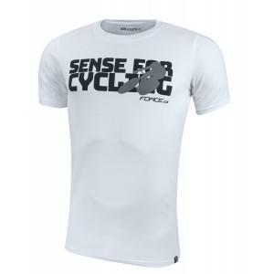 Triko FORCE SENSE krátký rukáv - bílé S