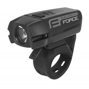 Světlo přední FORCE BUG 400 lm USB - černé