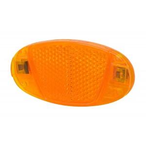 Oranžové odrazky do špic 8 x 4 cm - 2 ks